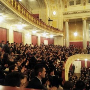 Part of the packed venue for the moot in Vienna