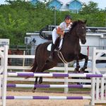 Polly Serpell jumps to the challenge in equestrian event