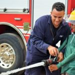 Fire Service trots out safety lecture to riding school