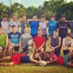 U-19 men's rugby team at regional championships