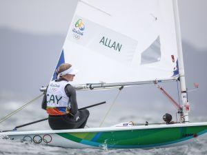 Florence Allan sailing on the open-ocean course (Photo by Allan V. Crane)