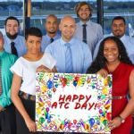 Air traffic controllers celebrated