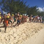 Open-water swim floats 18 teams