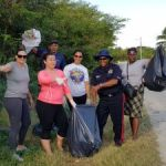 West Bay police and community clean district