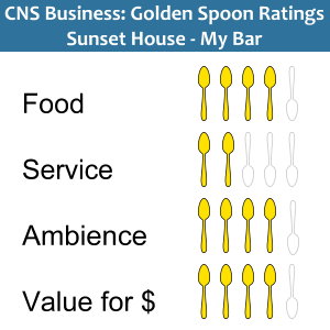 golden spoons ratings Sunset House My Bar