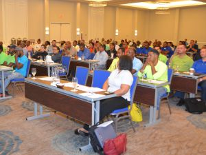 Attendees at the contractors workshop