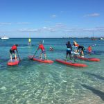 Paddling in aid of heart charity