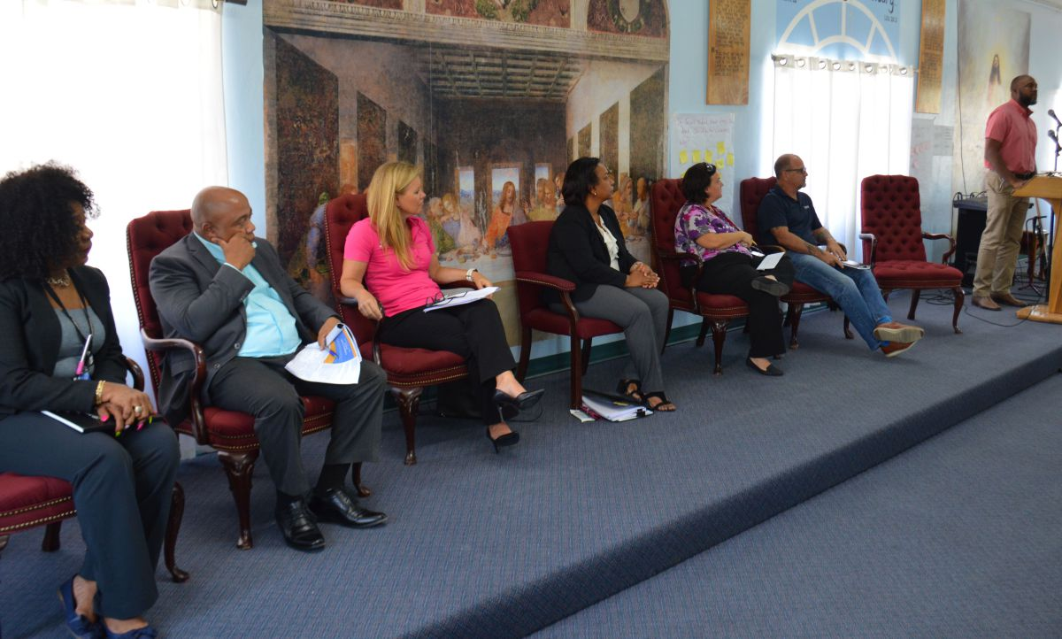 Panellists from the public and private sectors spoke to the inmates