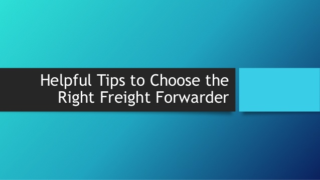 how to choose a freight forwarder to ship from china to usa