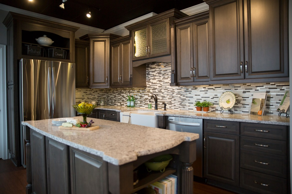 kitchen cabinet and countertop