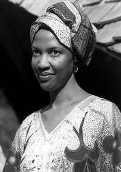 The late Sister Thea Bowman is pictured in a 1985 photo in Jackson, Miss. (CNS/Beatrice Njemanze, Mississippi Catholic)