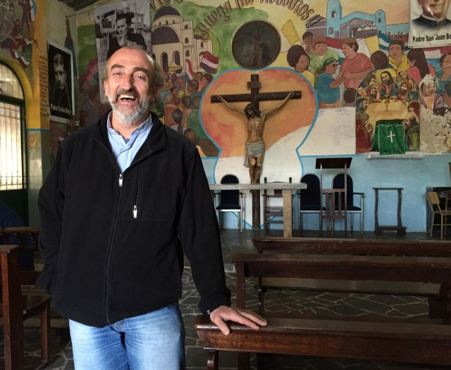 Father Lorenzo de Vedia, pastor at Our Lady of Caacupe Parish in Buenos Aires, plans to accompany parishioners to Paraguay to see Pope Francis. (CNS/David Agren)