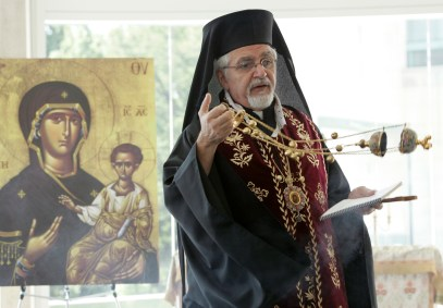 Melkite Bishop Nicholas J. Samra heads the Melkite Catholic Eparchy of Newton, Mass. Melkite parishes are located throughout the United States. (CNS file/Paul Haring)