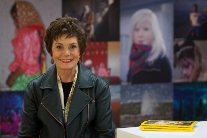Maureen Orth at National Geographic's building in Washington. (CNS/Tyler Orsburn)