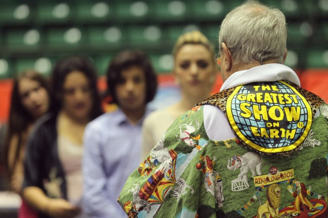 Father Jerry Hogan, national circus chaplain, celebrates Mass in the center ring of Ringling Bros. and Barnum & Bailey Circus at George Mason University's Patriot Center in Fairfax, Va. (CNS/Bob Roller)