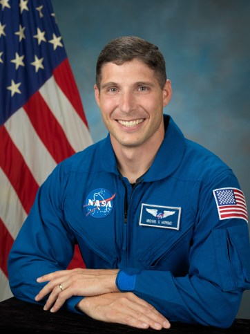 Astronaut Mike Hopkins became Catholic shortly before flying into space for a six-month mission aboard the International Space Station. (CNS/courtesy NASA)
