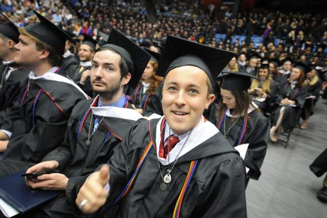 Commencement ceremonies take place at the University of Dayton in 2016, (CNS/University of Dayton)