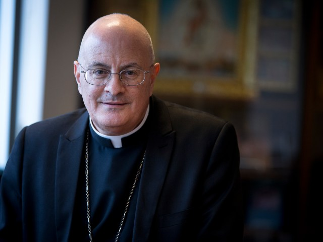 Maronite Bishop Gregory J. Mansour of Brooklyn, N.Y., was appointed chairman of Catholic Relief Services, the U.S. bishops' overseas relief and development agency. (CNS/Tyler Orsburn)