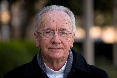 Brazilian Cardinal Claudio Hummes, president of the Pan-Amazonian Church Network, poses for a photo in Washington March 23. (CNS/Tyler Orsburn)