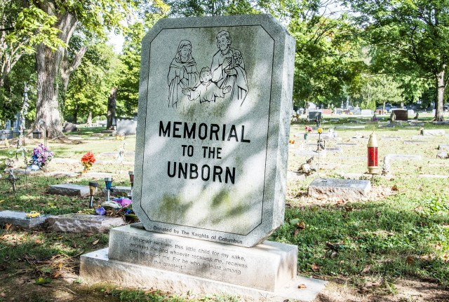A section at Calvary Cemetery in the Diocese of Nashville, Tenn., reserved for babies who die before birth or under 1 year old is seen in 2016. (CNS/Theresa Laurence, Tennessee Register)