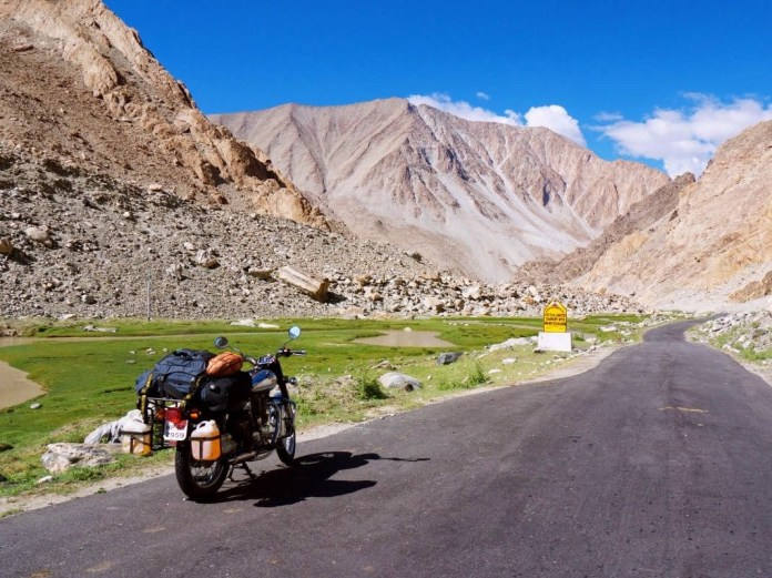 Travelling via Bike.