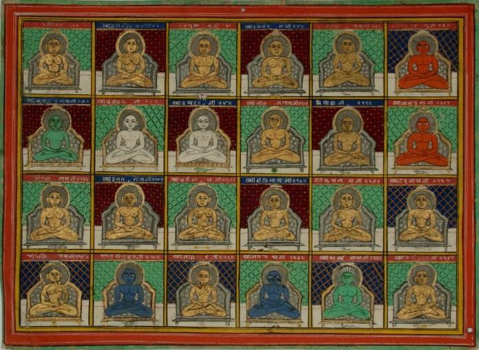 The 24 Jain Tirthankaras (or Jinas). Jaipur Circa 1850