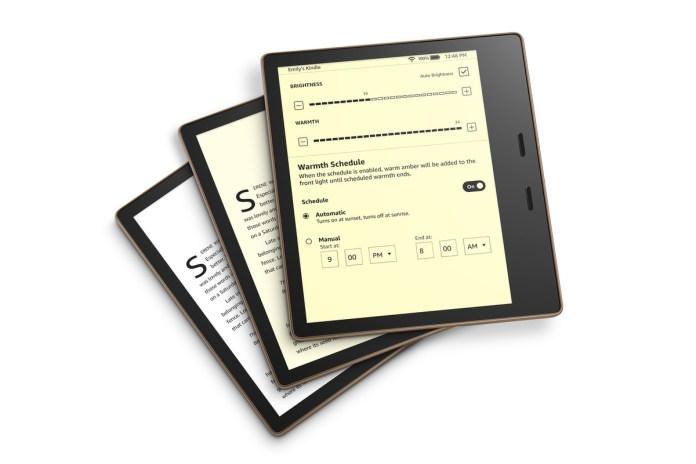 Kindle Oasis with adjustable warmth