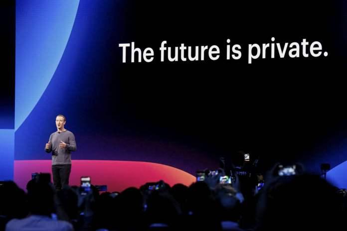 Facebook CEO Mark Zuckerberg in F8 2019