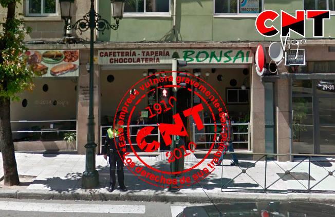 CAFETERÍA BONSAI EXPLOTA, DESPIDE Y NO PAGA A LOS  TRABAJADORES