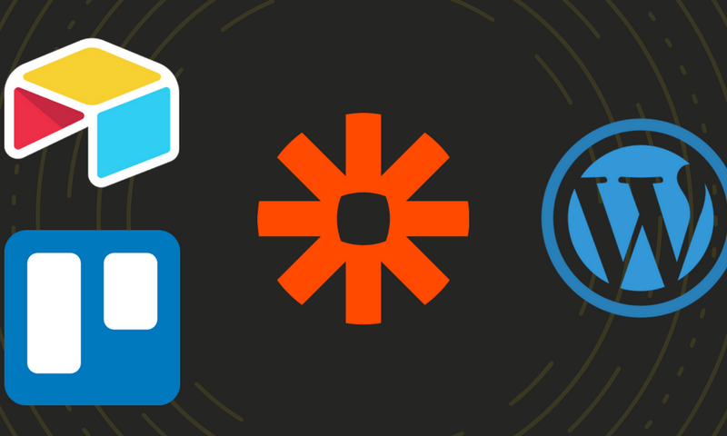 airtable trello zapier wordpress