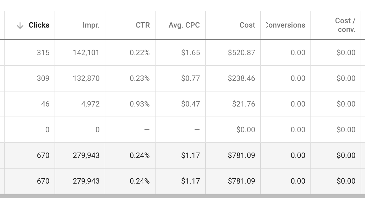 Google AdWords PPC Display Campaign Metrics Case Study CNW Digital