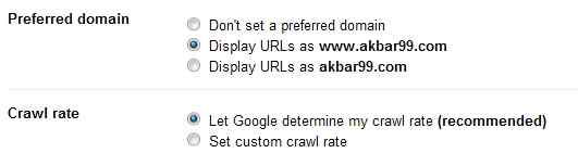 Canonical URL: How To Set Preffered Domain www or non www 5