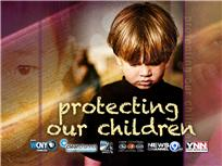 """""""Protecting Our Children"""" title slate"""