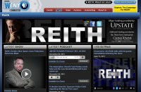 Screen shot of Reith page on wcny.org