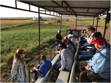 Southern Colorado producers on a soil health tour in South Dakota at Dakota Lakes