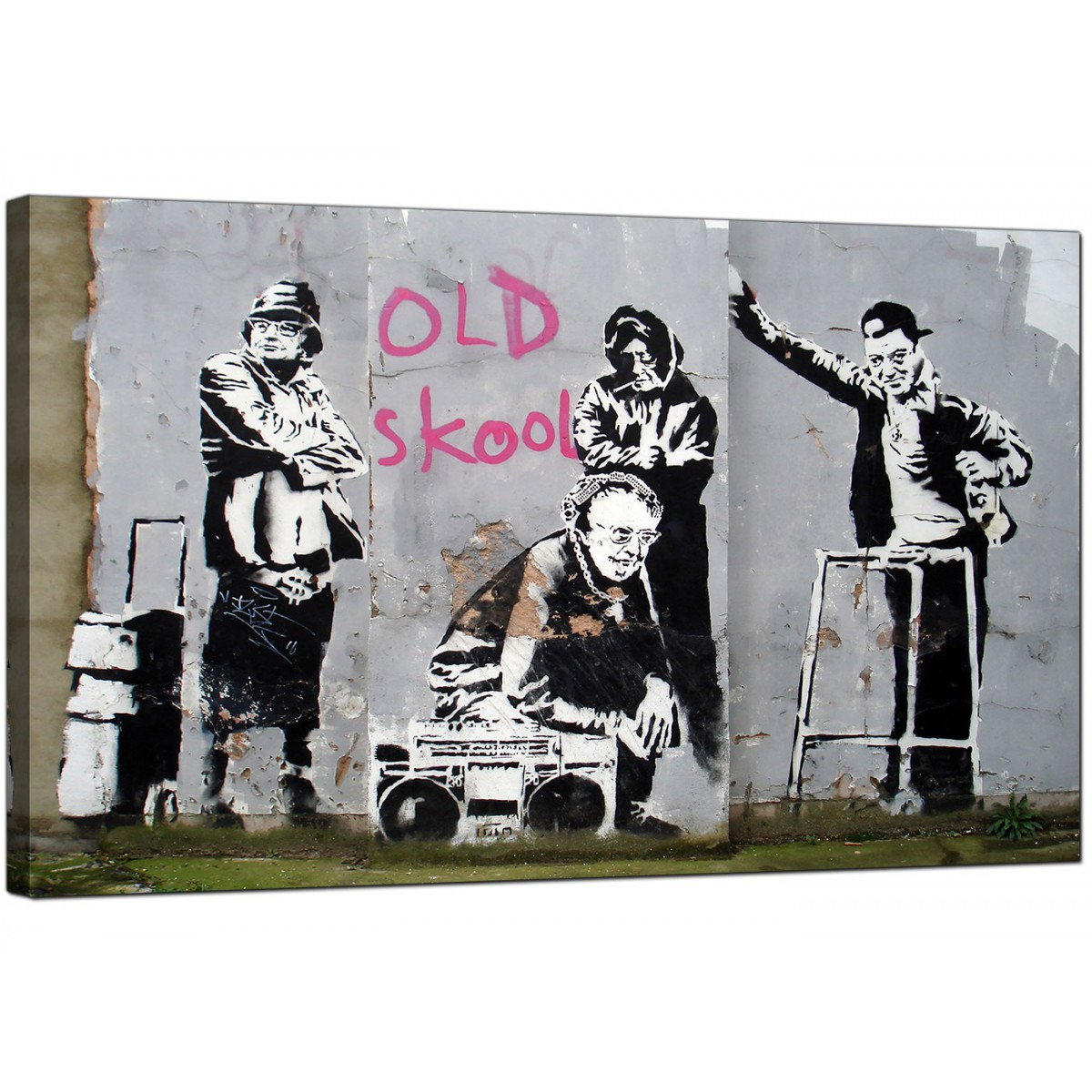 Banksy Canvas Prints Old Skool