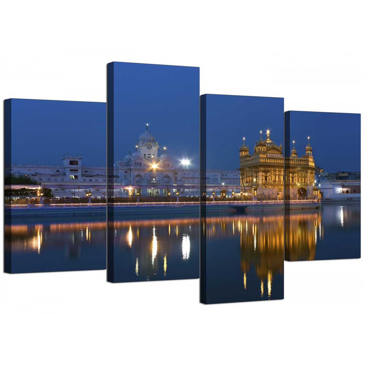 Sikh Canvas Wall Art Of Golden Temple Amritsar For A Bedroom 4 Part