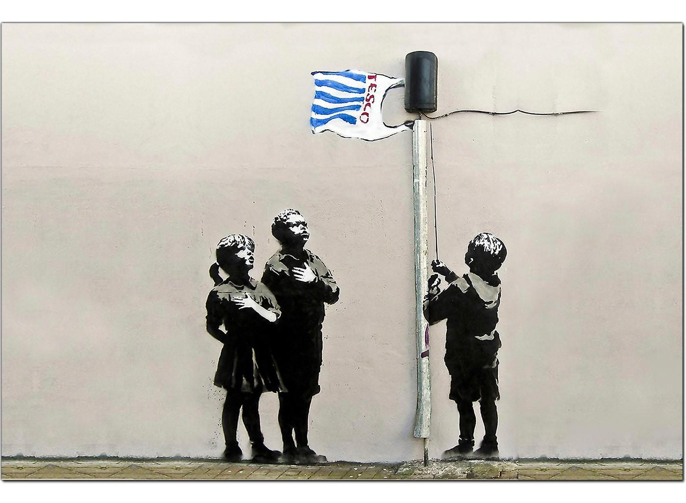 Banksy Canvas Prints Tesco Generation