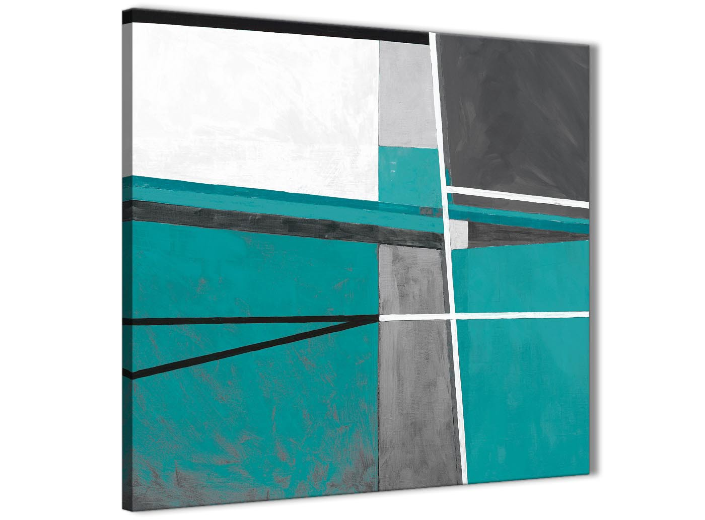 Teal Grey Painting Kitchen Canvas Pictures Accessories