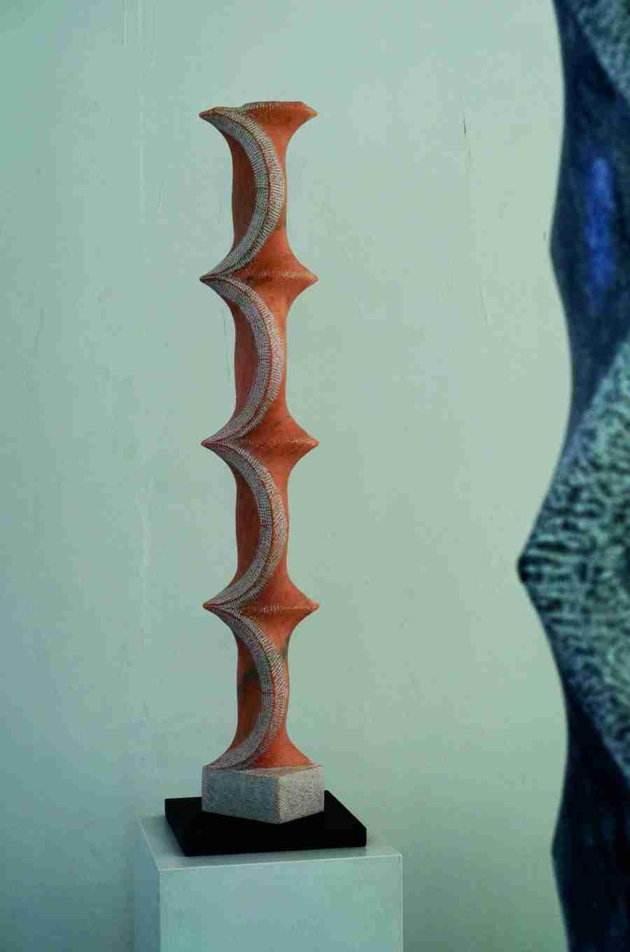 """Marmorskulptur """"Orient"""",Stele aus portugiesischem Marmor, (rosa Portogallo). Aus der Serie """"Marmorstelen"""", Bildhauer Jens Hogh-Binder, 2011- 2016"""