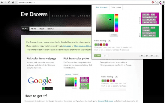 eye dropper chrome browser extension