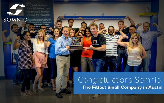 Somnio awarded Fittest Company in Austin Q2 2015