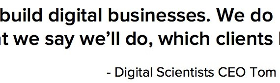Quote from Atlanta digital agency Digital Scientists