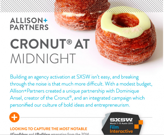 allison+partners sxsw cronut at midnight