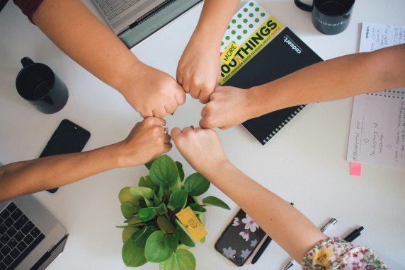 hands together showing teamwork