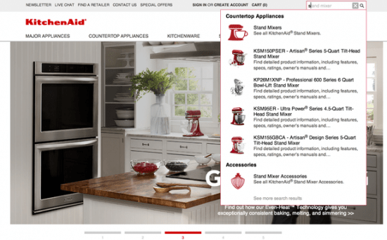 user experience kitchenaid