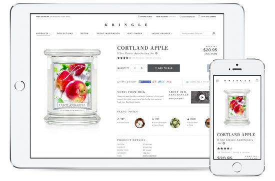 E-Commerce agency Digital Surgeons' work for Kringle Candle