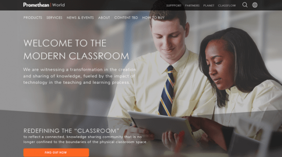 look listen web design project with promethean