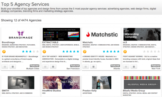 top 5 agency services