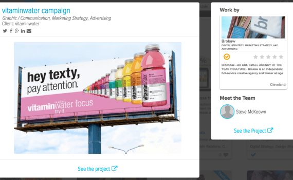 See the vitaminwater project by Brokaw on Agency Spotter